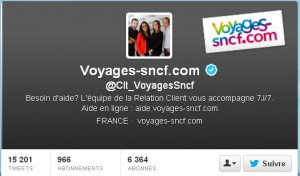 Twitter SNCF - Service Clients Omnicanal