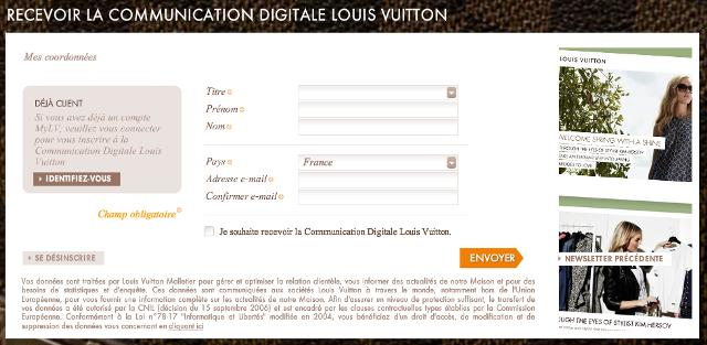 Louis Vuitton - Email de bienvenue