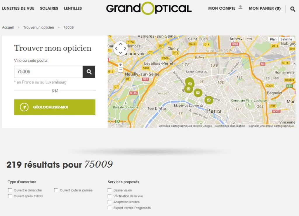 Store Locator - Optique