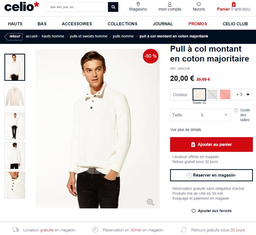 Celio - click and collect